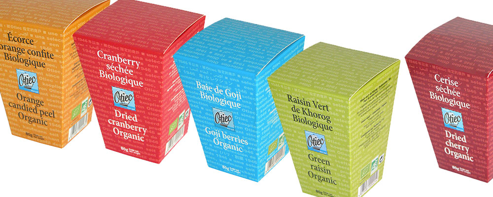 Packaging d'une gamme de fruits secs